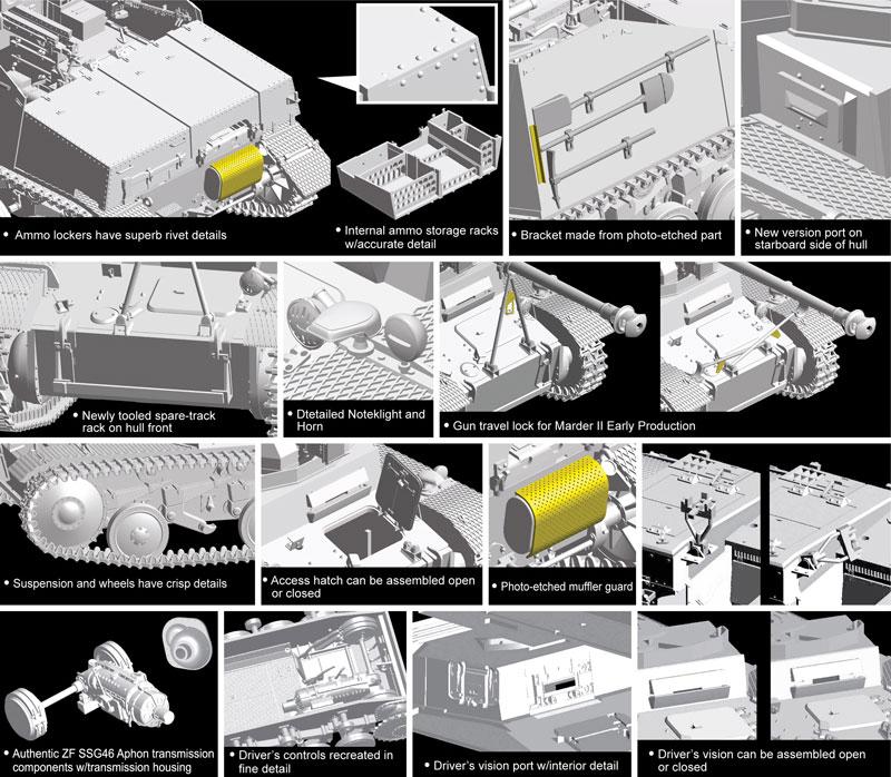 ドイツ 2号対戦車自走砲 マーダー 2 7.5cm PaK40/2搭載 初期生産型プラモデル(ドラゴン1/35 '39-'45 SeriesNo.6769)商品画像_2
