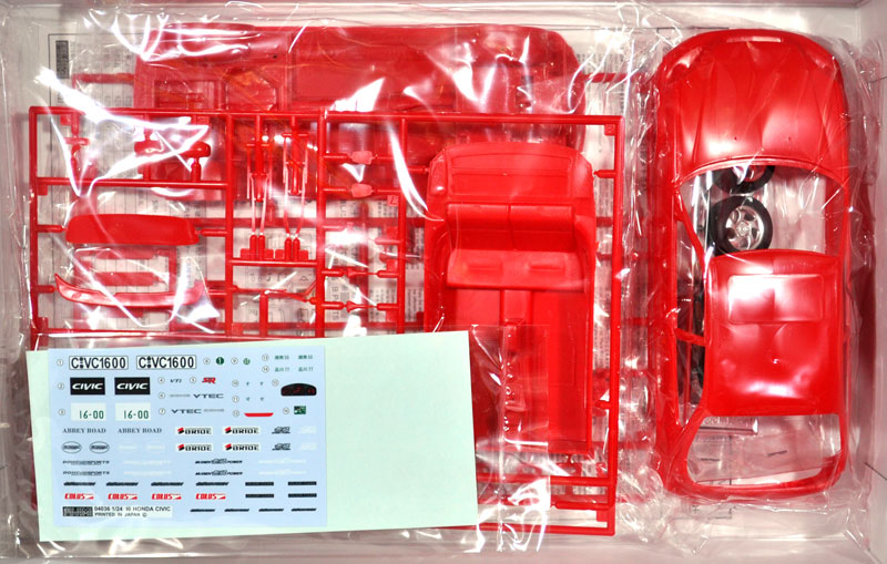 ミラクル シビック SIR2プラモデル(フジミ1/24 峠シリーズNo.013)商品画像_1