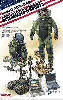 MENG-MODEL1/35 ヒューマン シリーズアメリカ 爆発物処理作業者とロボット