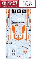 スタジオ27ツーリングカー/GTカー オリジナルデカールマクラーレン MP4-12C ブーツェン ジニオン #16 モンツァ 2014