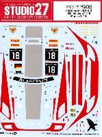 スタジオ27ツーリングカー/GTカー オリジナルデカールメルセデス SLS GT3 ブラックファルコン #18 モンツァ 2014