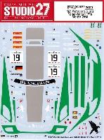 スタジオ27ツーリングカー/GTカー オリジナルデカールメルセデス SLS GT3 ブラックファルコン #19 モンツァ 2014