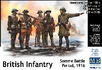 マスターボックス1/35 ミリタリーミニチュアWW1 イギリス歩兵 (ソンム戦 1916年)