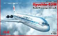 ICM1/144 エアクラフトイリューシン IL-62M 長距離旅客機