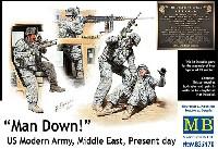 マスターボックス1/35 ミリタリーミニチュアアメリカ 現用兵士 中東アフガン戦 車上捜索 1名負傷