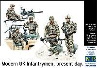 マスターボックス1/35 ミリタリーミニチュアイギリス 現用歩兵 中東・フル装備・車上乗車シーン