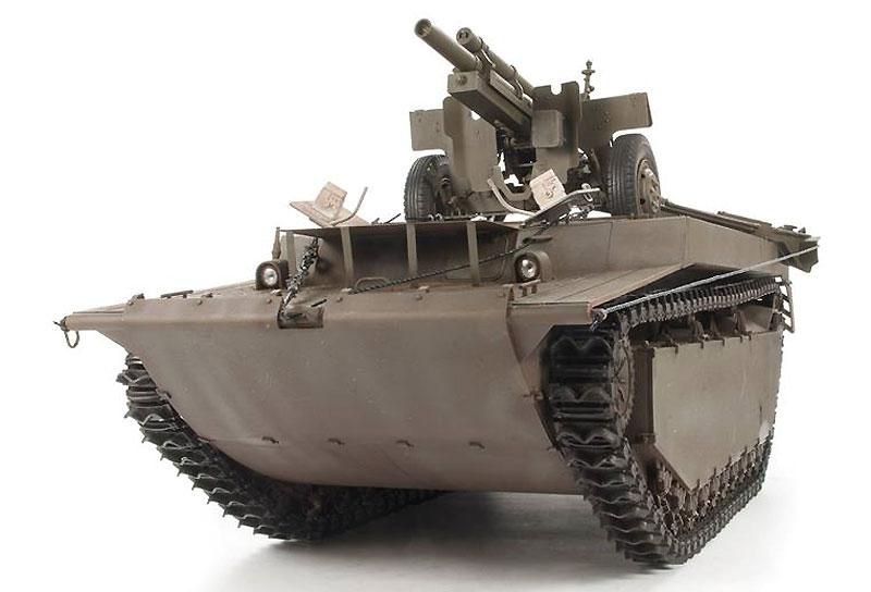 LVT-4 バッファロー & 105mm M2A1榴弾砲プラモデル(ディン・ハオ1/35 AFVNo.DH96008)商品画像_2