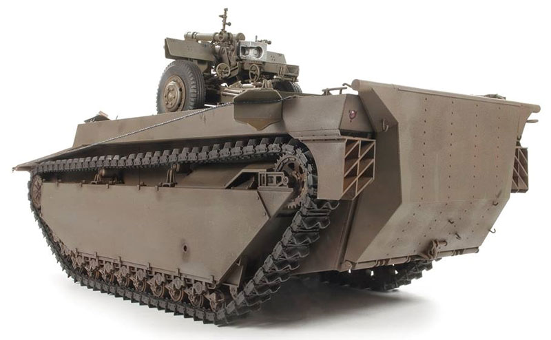 LVT-4 バッファロー & 105mm M2A1榴弾砲プラモデル(ディン・ハオ1/35 AFVNo.DH96008)商品画像_3