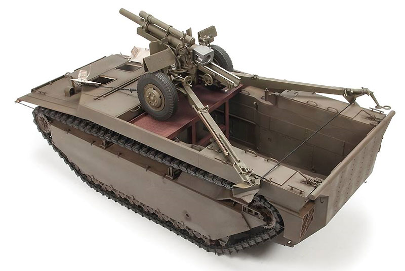 LVT-4 バッファロー & 105mm M2A1榴弾砲プラモデル(ディン・ハオ1/35 AFVNo.DH96008)商品画像_4