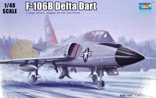 F-106B デルタダートプラモデル(トランペッター1/48 エアクラフト プラモデルNo.02892)商品画像