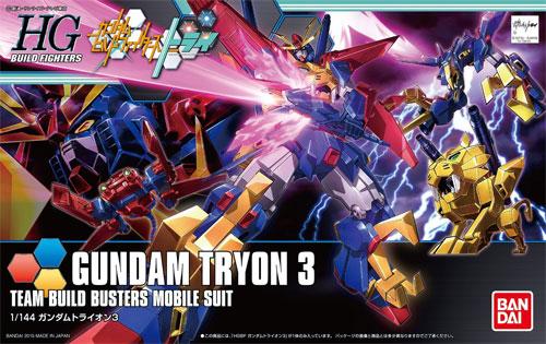 ガンダム トライオン 3プラモデル(バンダイHGBF ガンダムビルドファイターズNo.038)商品画像