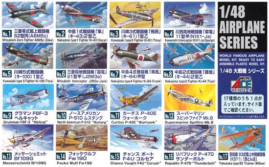 川崎 3式戦闘機 飛燕 1型乙 (キ61)プラモデル(マイクロエース1/48 AIRPLANE SERIESNo.003)商品画像