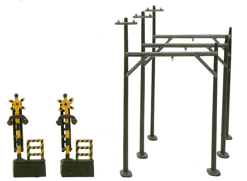 架線柱 C2 - 木製単線用 -プラモデル(トミーテック情景コレクション 情景小物シリーズNo.037-2)商品画像_1