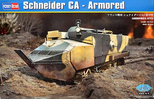 フランス戦車 シュナイダー CA1 装甲型プラモデル(ホビーボス1/35 ファイティングビークル シリーズNo.83862)商品画像