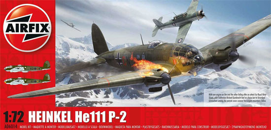 ハインケル He111P-2プラモデル(エアフィックス1/72 ミリタリーエアクラフトNo.A06014)商品画像