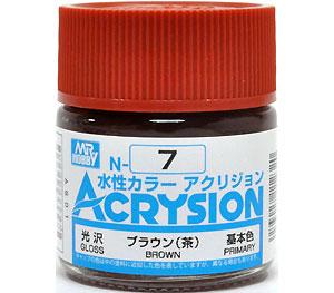 ブラウン (茶) (N-7)塗料(GSIクレオス水性カラー アクリジョンNo.N-007)商品画像