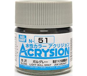ガルグレー (N-51)塗料(GSIクレオス水性カラー アクリジョンNo.N-051)商品画像