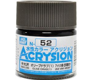 オリーブドラブ (1) (N-52)塗料(GSIクレオス水性カラー アクリジョンNo.N-052)商品画像