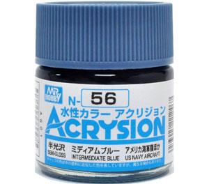 ミディアムブルー (N-56)塗料(GSIクレオス水性カラー アクリジョンNo.N-056)商品画像