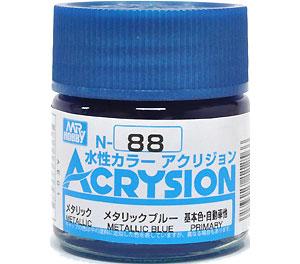 メタリックブルー (N-88)塗料(GSIクレオス水性カラー アクリジョンNo.N-088)商品画像
