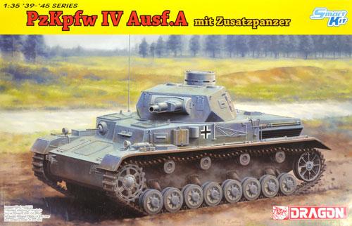 ドイツ 4号戦車 A型 w/増加装甲プラモデル(ドラゴン1/35