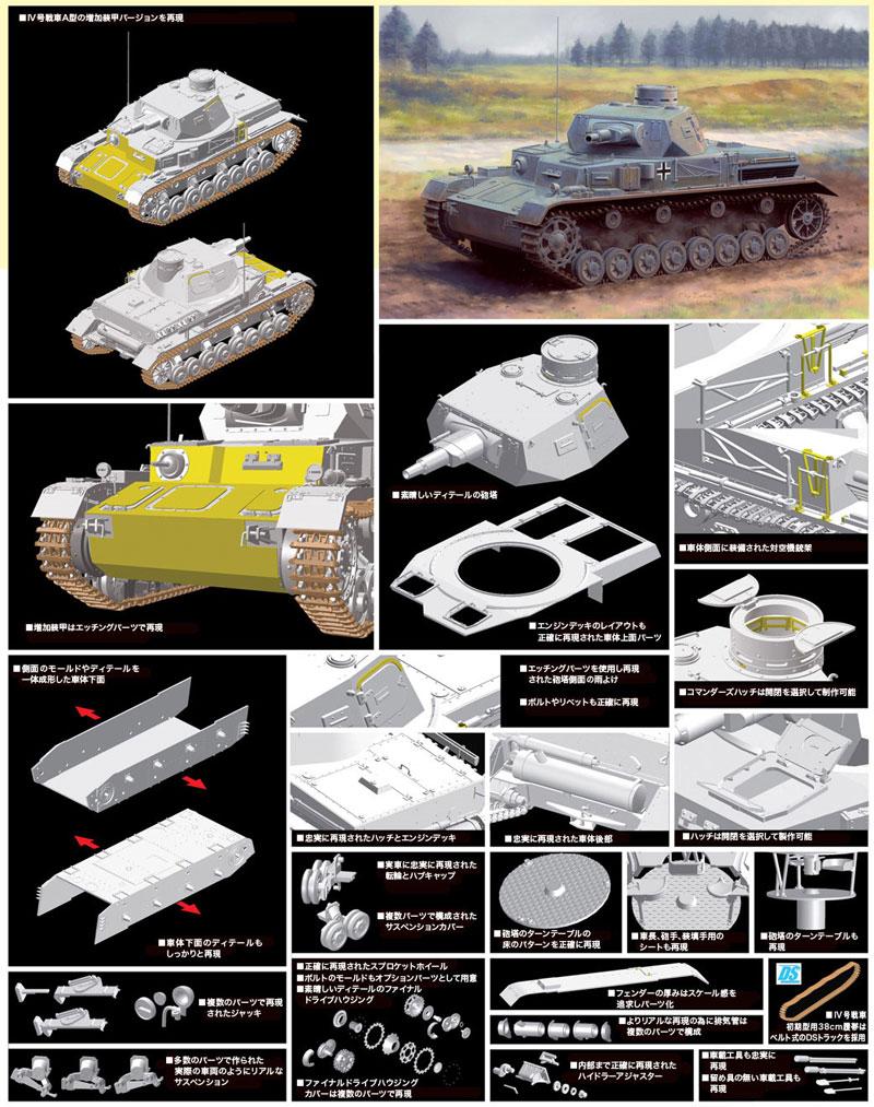 ドイツ 4号戦車 A型 w/増加装甲プラモデル(ドラゴン1/35 '39-'45 SeriesNo.6816)商品画像_2