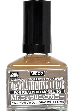 グレイッシュブラウン塗料(GSIクレオスMr.ウェザリングカラーNo.WC007)商品画像