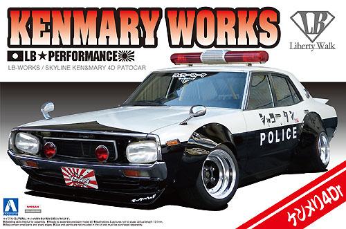 LB ワークス ケンメリ 4Dr パトカープラモデル(アオシマ1/24 リバティーウォークNo.007)商品画像