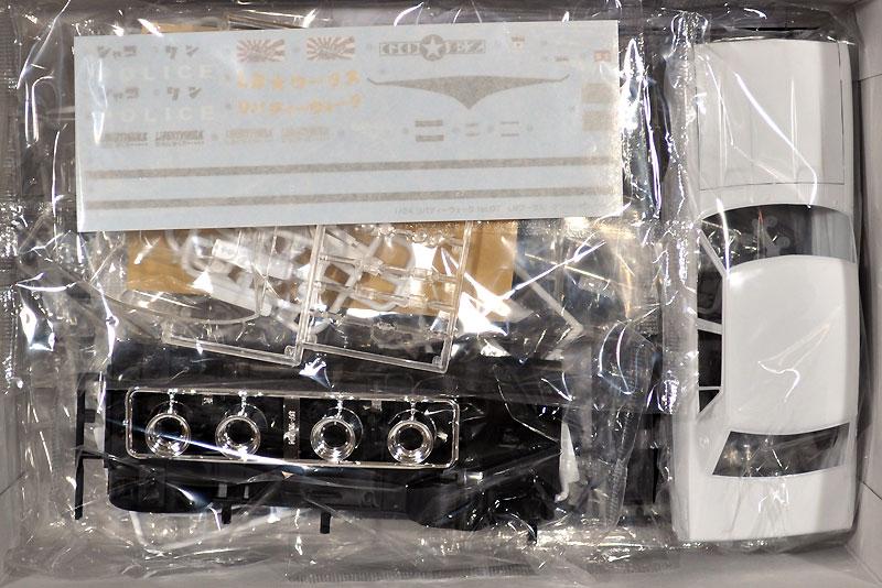 LB ワークス ケンメリ 4Dr パトカープラモデル(アオシマ1/24 リバティーウォークNo.007)商品画像_1