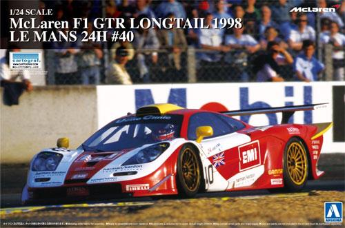 マクラーレン F1 GTR ロングテイル 1998 ルマン24時間 #40プラモデル(アオシマ1/24 スーパーカー シリーズNo.020)商品画像