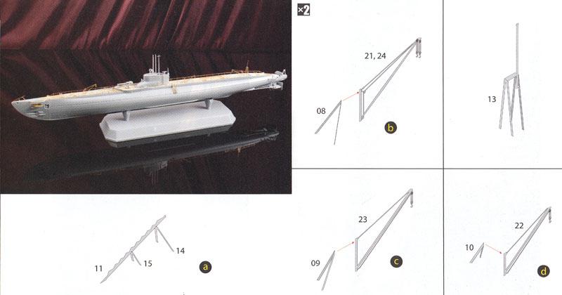 日本海軍潜水艦 海大6型用 エッチングパ-ツエッチング(アオシマ1/350 アイアンクラッド ディテールアップパーツNo.010662)商品画像_2