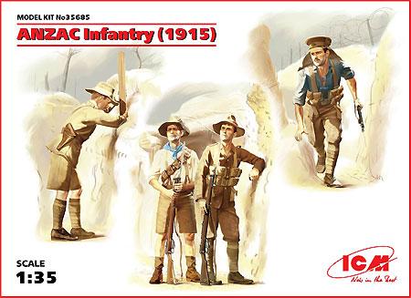 アンザック歩兵 (1915)プラモデル(ICM1/35 ミリタリービークル・フィギュアNo.35685)商品画像