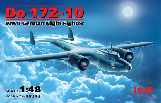 ドルニエ Do17Z-10 夜間戦闘機プラモデル(ICM1/48 エアクラフト プラモデルNo.48243)商品画像