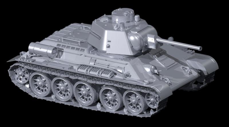 T-34/76 1943年 後期型プラモデル(ICM1/35 ミリタリービークル・フィギュアNo.35366)商品画像_2