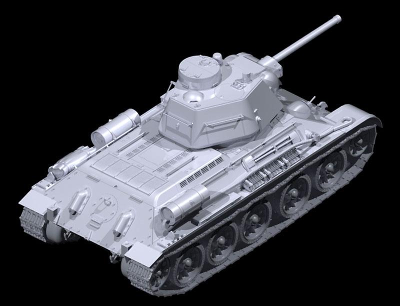 T-34/76 1943年 後期型プラモデル(ICM1/35 ミリタリービークル・フィギュアNo.35366)商品画像_3