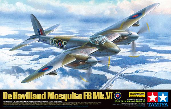 デ・ハビランド モスキート FB Mk.6プラモデル(タミヤ1/32 エアークラフトシリーズNo.026)商品画像