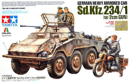 ドイツ重装甲車 Sd.Kfz.234/1 (2cm砲搭載型)プラモデル(タミヤタミヤ イタレリ シリーズNo.37019)商品画像