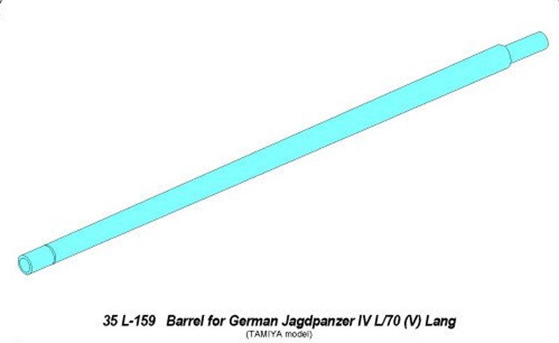 ドイツ 4号駆逐戦車 ラング用 砲身 (タミヤ用)メタル(アベール1/35 AFV用 砲身パーツNo.35L-159)商品画像_1