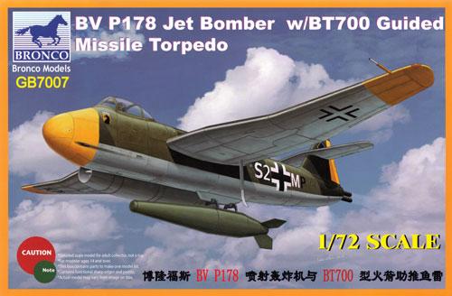 ブロームウントフォス Bv P178 w/BT700 誘導爆弾プラモデル(ブロンコモデル1/72 エアクラフト プラモデルNo.GB7007)商品画像