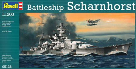ドイツ戦艦 シャルンホルストプラモデル(レベル1/1200 艦船キットNo.05136)商品画像