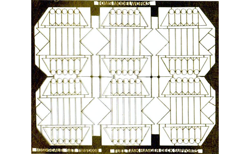 現用 米海軍 空母用 増槽ラックエッチング(トムスモデル1/350 艦船用エッチングパーツシリーズNo.TM3585)商品画像_1