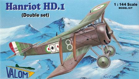 フランス アンリオ HD.1 複葉戦闘機プラモデル(バロムモデル1/144 エアクラフトNo.14411)商品画像
