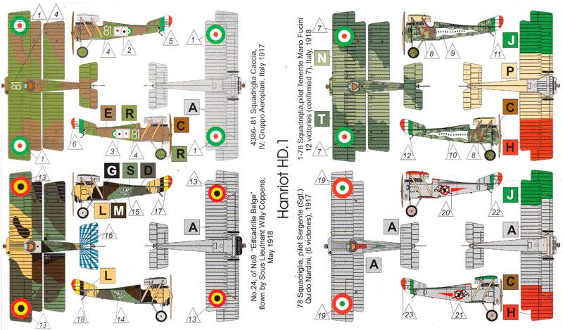 フランス アンリオ HD.1 複葉戦闘機プラモデル(バロムモデル1/144 エアクラフトNo.14411)商品画像_1