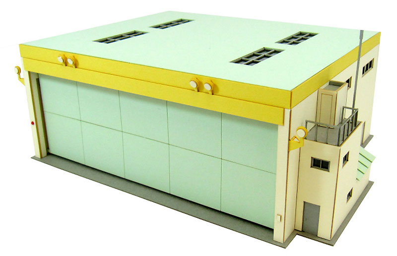 飛行クラブ機体収納庫ペーパークラフト(さんけい航空情景シリーズNo.MK08-012)商品画像_3
