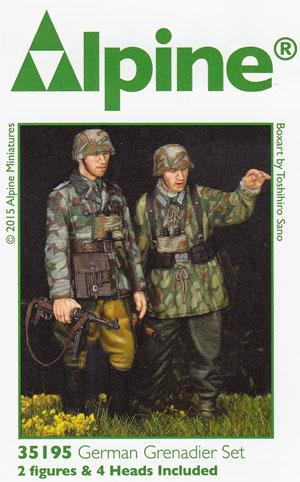 WW2 ドイツ 擲弾兵 (スプリンター迷彩服) (2体セット)レジン(アルパイン1/35 フィギュアNo.AM35195)商品画像