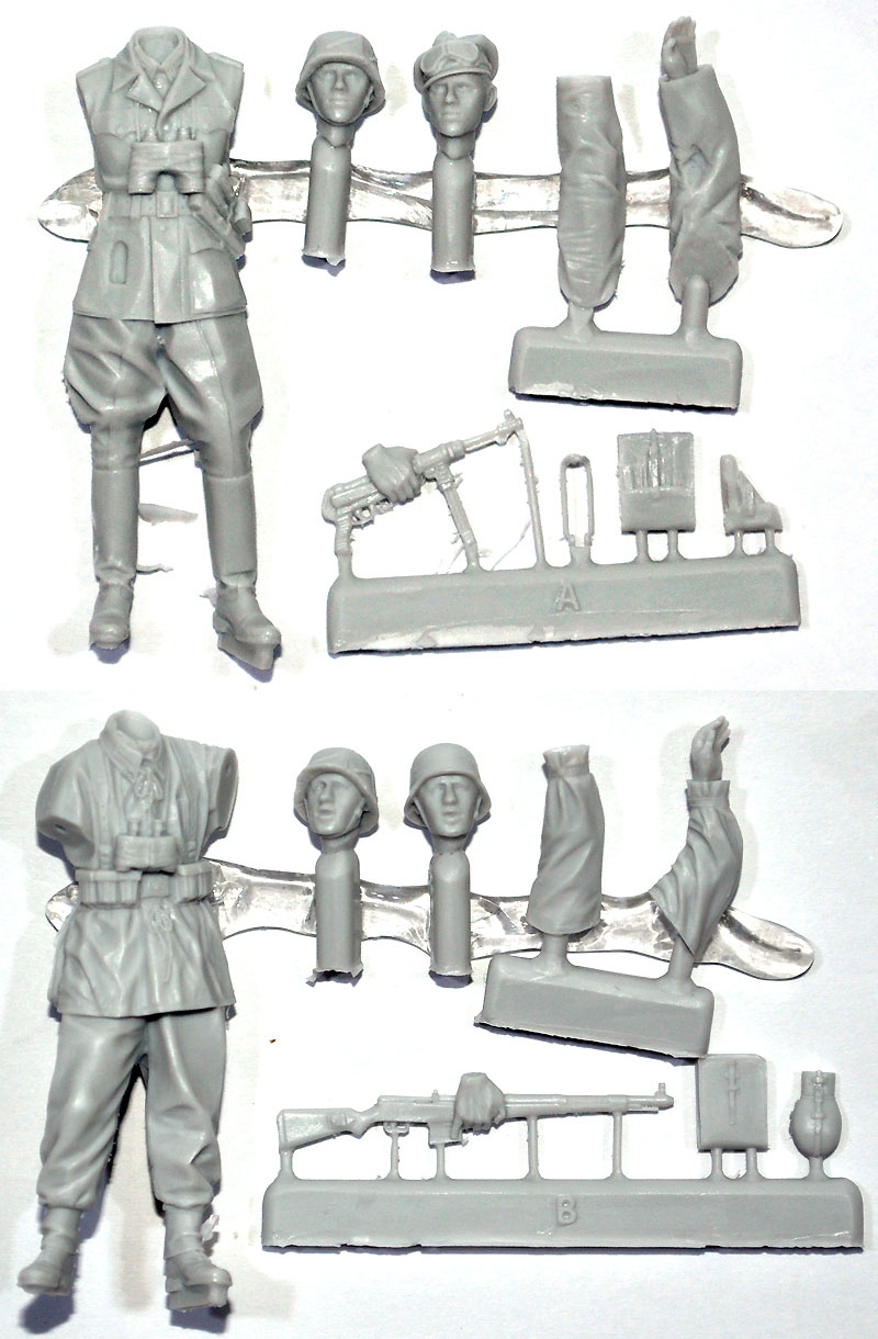 WW2 ドイツ 擲弾兵 (スプリンター迷彩服) (2体セット)レジン(アルパイン1/35 フィギュアNo.AM35195)商品画像_1