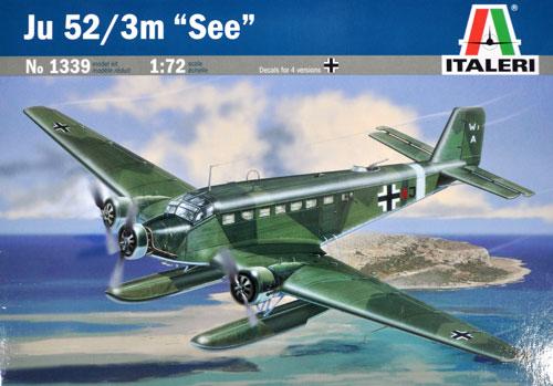 ユンカース Ju52/3m シープラモデル(イタレリ1/72 航空機シリーズNo.1339)商品画像