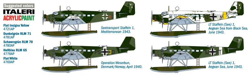 ユンカース Ju52/3m シープラモデル(イタレリ1/72 航空機シリーズNo.1339)商品画像_1