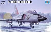 トランペッター1/48 エアクラフト プラモデルF-106B デルタダート