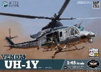 キティホーク1/48 ミリタリーエアクラフト プラモデルUH-1Y ヴェノム